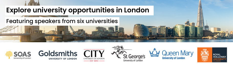 Banner for the London universities group roadshow