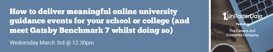 Lunchtime learning for school colleagues - website banner