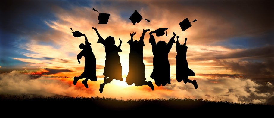 Image of students celebrating their graduation